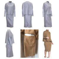 Used 2 pcs Pullover and skirt size S beige in Dubai, UAE