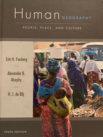 Used Human geography book -tenth edition in Dubai, UAE