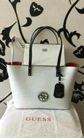 Guess Bag New Only Used The Small Pouch Twice Tri Color Black Blue White