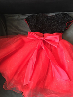 Used Red and black party dress (2 to 3 years) in Dubai, UAE