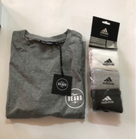 Used Organic beard T-shirt +adidas socks  in Dubai, UAE