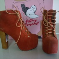 Used New Jeffrey Campbell suede ankle boots in Dubai, UAE