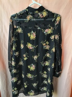 Used ZARA FLORAL BLACK LONG SLEEVED DRESS in Dubai, UAE
