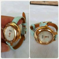 F&Y watch gold blue....fashionista....