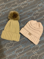 Used Cc beanies , bonnet with fur in Dubai, UAE
