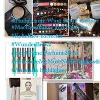 All In One Price ! #HudaBeautyEyelinerStamp #WunderBrow #Anastasia Highlighter #Kylie Give Me More Nude Lipgloss Set4in1 #Chanelcoco20ml #macEyeshadowandBlushon