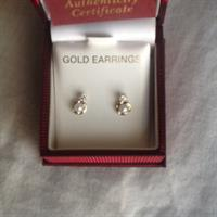 10 K Solid Gold Earrings With