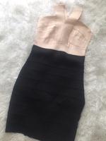 Used Bandage style black/beige dress in Dubai, UAE