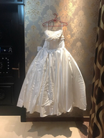 Wedding dress large size strapless