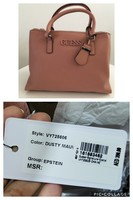 Used Authentic Guess pink tota bag in Dubai, UAE