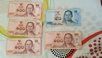 Used Thailand currency in Dubai, UAE