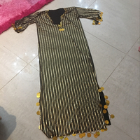Dress Golden Color Size Free
