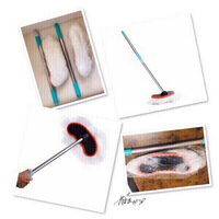 Used 2 Retractable milk Fiber Car Mop♏️ in Dubai, UAE