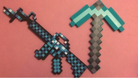 Used Minecraft axe and armalite rubber toy in Dubai, UAE