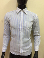 Used White with blue stripes shirt - Size 38 in Dubai, UAE