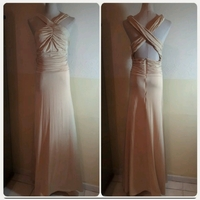 Used Beige Long Dress for Women in Dubai, UAE
