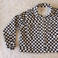 Used ASOS checkered denim jacket in Dubai, UAE