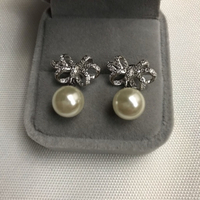 Used 925 silver unique bow design earring in Dubai, UAE