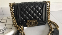 Used Replica Chanel mini Boy bag real leather in Dubai, UAE