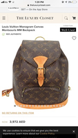 Used Louis Vuitton Montsouris PM Backpack in Dubai, UAE