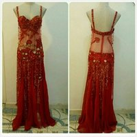 Used Brand new red BELLY DANCE long dress. in Dubai, UAE