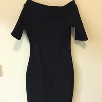 Used Riverisland Off Shoulder #dress #wornonce #almostnew #cheap #black in Dubai, UAE