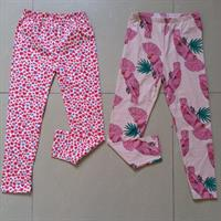 Cute Leggings For Girls Age 10yrs. 2 Pieces Brand New. Red Hearts Print And Pink Parrots Print. Made Of 100% Cotton. Please Check Out My Profile For More Items.