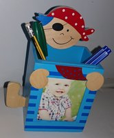 Used Kids Pirate Photo Frame Pencil Holder. in Dubai, UAE