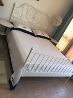 Used IKEA Steel White Bed . With Mattress  in Dubai, UAE