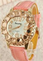 Stone Peach Color Women Watch