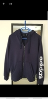 Used Adidas medium blue jacket for women in Dubai, UAE