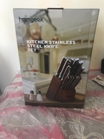 Used Professional knife set branded (unused) in Dubai, UAE