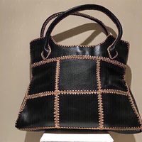 Used Ladies genuine black Leather Tote Bag in Dubai, UAE