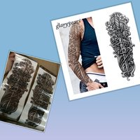 Used 2 pcs temporary tattoo big arm or leg si in Dubai, UAE