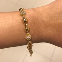 Gold bracelet 10k .. Will Never Fade Or Tarnish . 10k Gold #bracelet #gold #jewelry