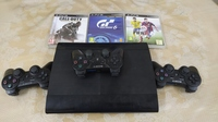 Used Ps3+3controllers+3games for sale in Dubai, UAE