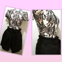 Used Fashionable Body suit +semi formal short in Dubai, UAE
