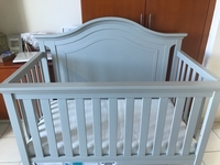 Used Real wood like new baby bed w mattress  in Dubai, UAE