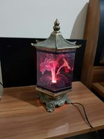 Used Multicolour Fibre Lamp with Flower Desin in Dubai, UAE