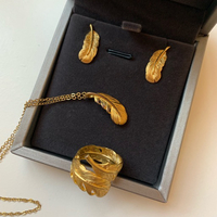 Used 3pcs gold plated jewelry set  in Dubai, UAE