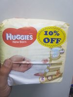 Used Huggies Newborn Size 2 (5x21 diapers) in Dubai, UAE