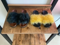 Used Zara fur slippers  in Dubai, UAE