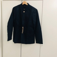 Navy blue jacket with gold buttons 3XL