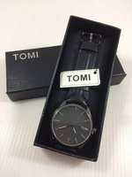 Used Original TOMI Leather Watch `New withBOX in Dubai, UAE