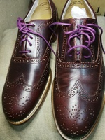 New charlie design brown purple shoes 43