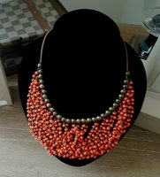 Used Classy Wooden Bead necklace brand new in Dubai, UAE