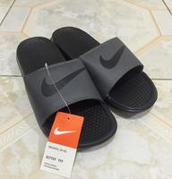 Used Nike grey men's slipper class A (45) in Dubai, UAE