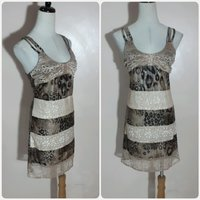 Sleeveless tiger print short dress