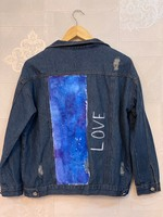 Used Hand Painted Ripped Denim Jacket in Dubai, UAE