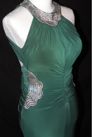 Used Dark green color evening dress in Dubai, UAE